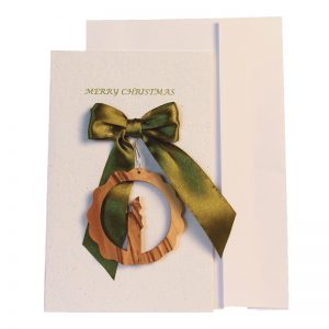 Christmas Card & Ornament - Circle and Candle