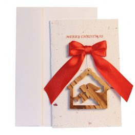 Christmas Card & Ornament - Angel & Nativity
