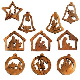 nativity star bell and ball ornaments