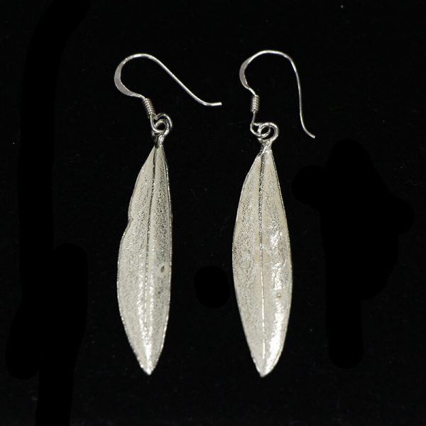 Silver Feather Earrings The Fashion Bible i4CITRR6S