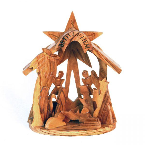 Authentic Bethlehem Olive Wood Nativity