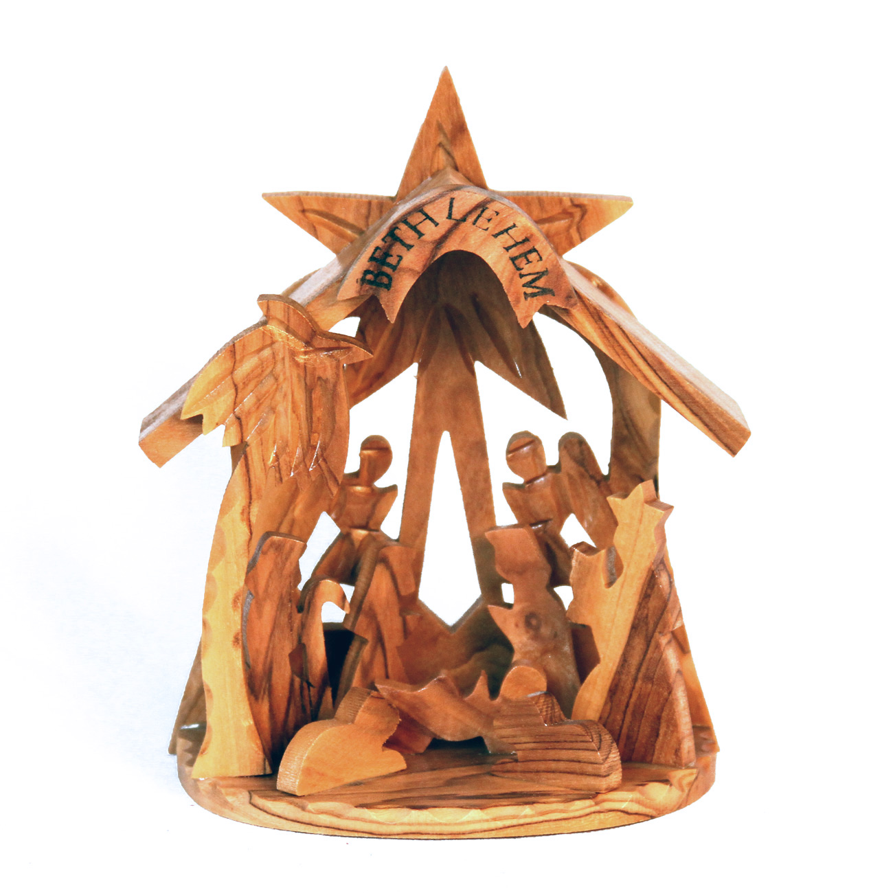 Authentic Bethlehem Olive Wood Nativity