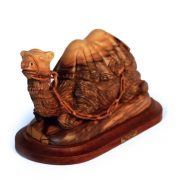 Intricate carving of sitting camel
