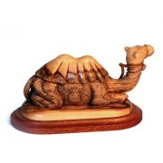 sitting camel carved with olive wood facouseh