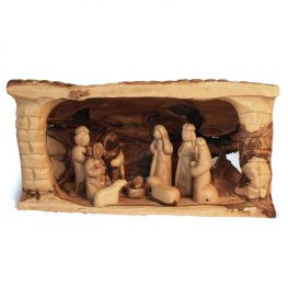 Log Nativity Set from Bethlehem