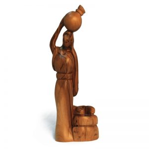 Jesus meets the Samaritan woman olive wood nablus