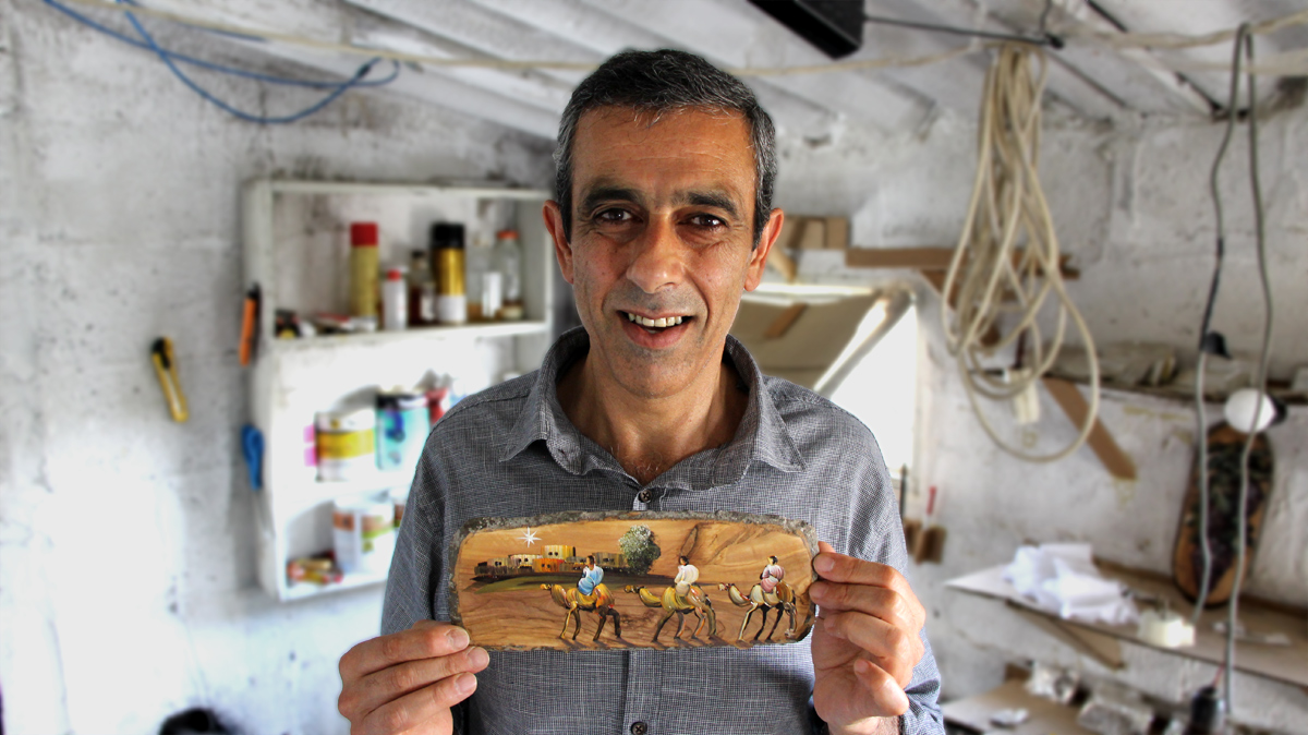 Biblical Paintings on Olive Wood