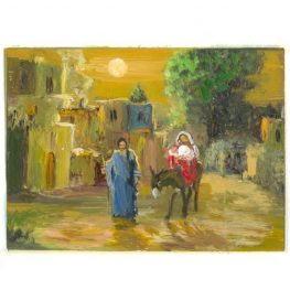 Zaki Baboun print on Christmas Cards that were made in Bethlehem