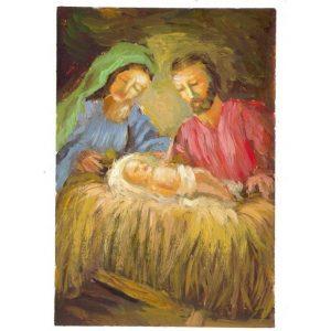 Zaki Baboun print on Christmas Cards that were made in Bethlehem
