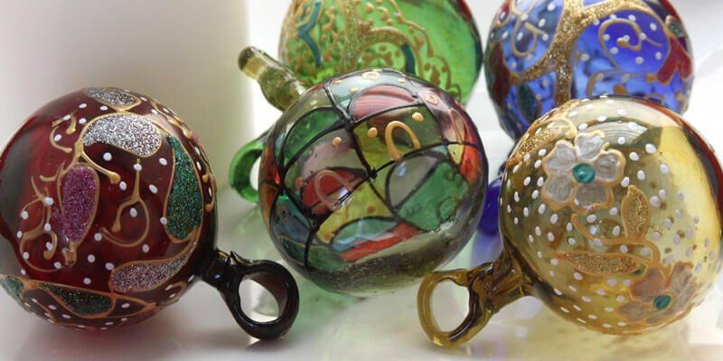 vintage blown glass from hebron
