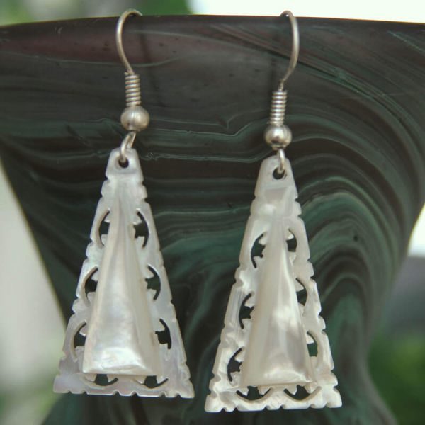 Mother of Pearl Triangle Earrings METLWA/715