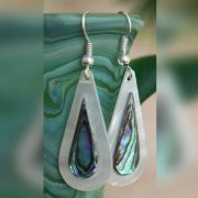 Mother of Pearl and Abalone Tear Drop Earrings METLWA/716