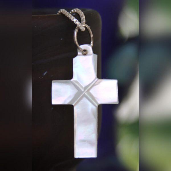 Mother of pearl plain cross pendant starbazaar mother of pearl plain cross pendant aloadofball Images