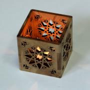Olive Wood Tea Light Candle Holder Arab Style