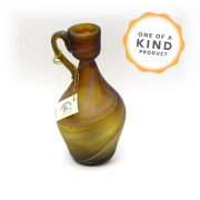Small Antiquity Pitcher - Brown Gold Glass