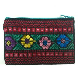 Handmade Flower Palestinian Embroidery Pouch Bethlehem