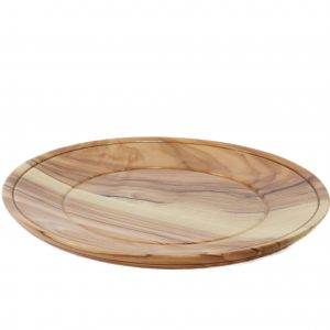 Communion or serving plate from Olive Wood