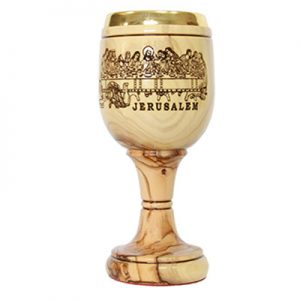 Communion Cup w/ laser engraved Last Supper